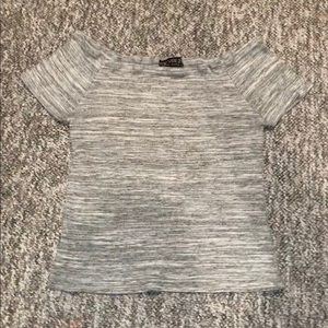 Forever 21 Plus Grey Off The Shoulder Crop Top